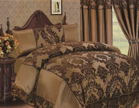 Chocolate Brown Duvet Covers by Elegance 4pcs Complete Bed Set Duvet Cover