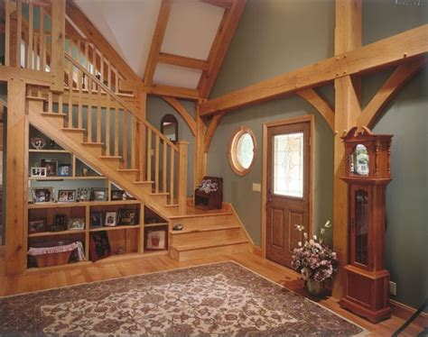showcase designs below staircase open shelving under the stairs can showcase collectibles or in this case family photos 12