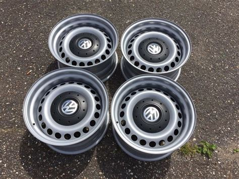 vw transporter t5 t6 banded steel wheels 16inch staggered 5x120 mint in bournemouth dorset