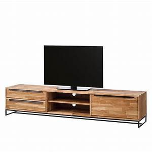 Tv Möbel Metall : tv lowboard valenje ii eiche massiv metall eiche schwarz jetzt bestellen unter https ~ Whattoseeinmadrid.com Haus und Dekorationen