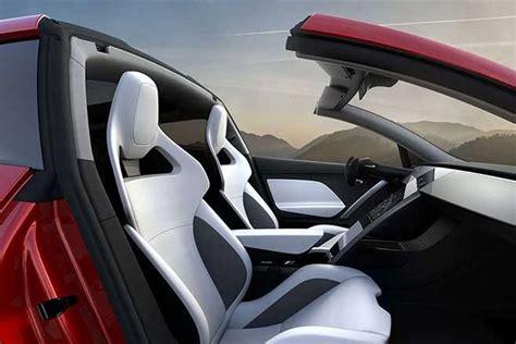 tesla roadster interior new tesla roadster revealed motor