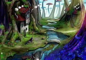 mushroom forest wallpaper by dinmoney on DeviantArt