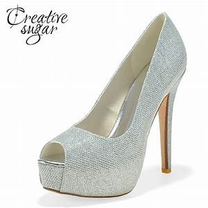 creativesugar ladies platform high heel dress shoes gold With womens black dress shoes wedding