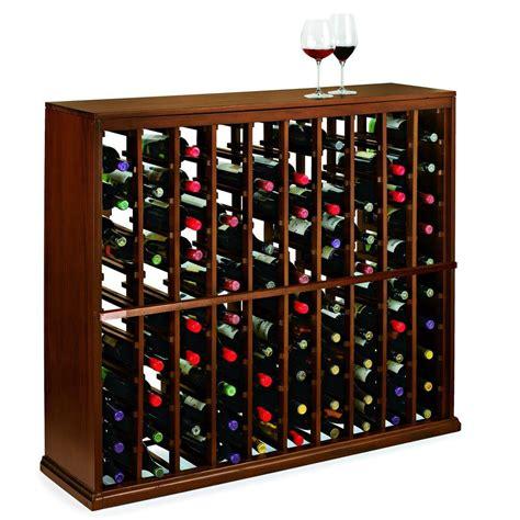 wine enthusiast nfinity  bottle dark walnut floor wine