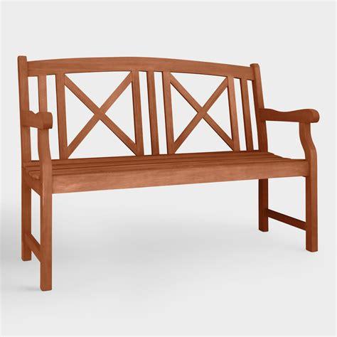 small outdoor bench small greenport garden bench world market