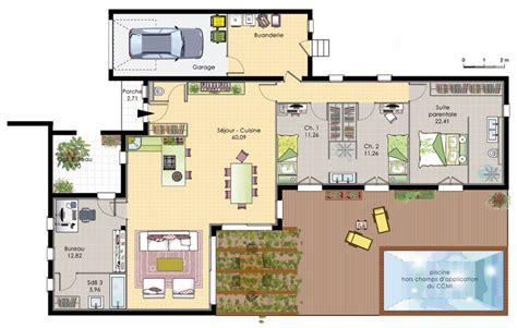plan maison plain pied 4 chambres garage plan maison plain pied images about plan maison on garage