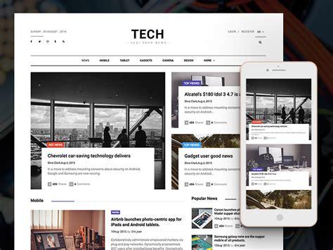 News Website Templates Technews Free Bootstrap Html5 Magazine Website Template