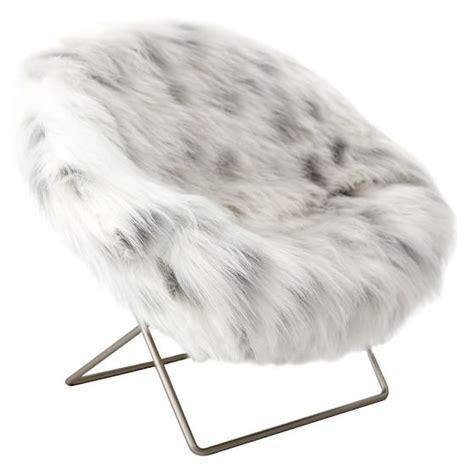 faux fur mini hang a phone chair pbteen