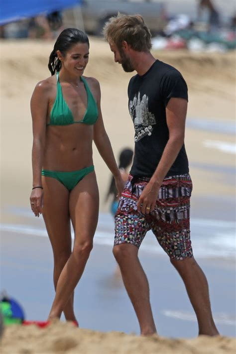 nikki reed  green bikini   beach  hawaii hawtcelebs