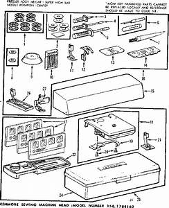 Kenmore 1581784182 Mechanical Sewing Machine Parts
