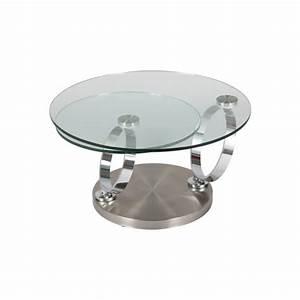 Table Basse En Verre Ronde : table basse ronde en verre socle inox achat vente table basse table basse ronde en verre ~ Teatrodelosmanantiales.com Idées de Décoration