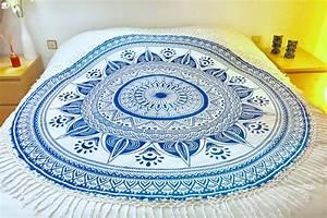 Tapis Rond Mandala : drap de plage mandala rond indian tendances du monde ~ Teatrodelosmanantiales.com Idées de Décoration