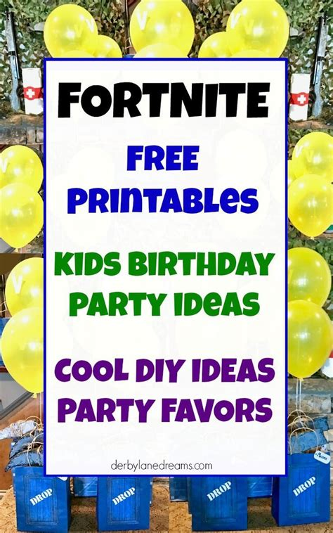 fortnite party ideas fortnite party favors  supplies