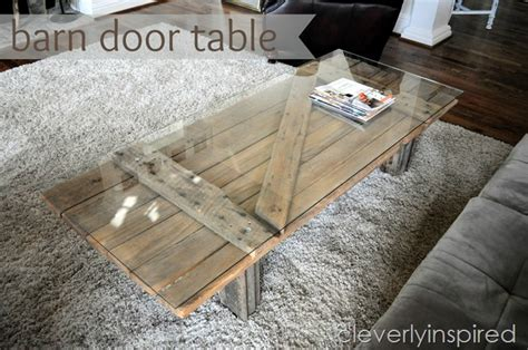 Barn Door Becomes Coffee Table…
