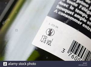 French Wine Bottle Back Label with Health Warning Symbol ...