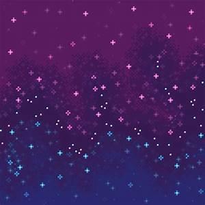 """Bi Pride Flag Galaxy (8bit)"" Canvas Prints by sp8cebit"