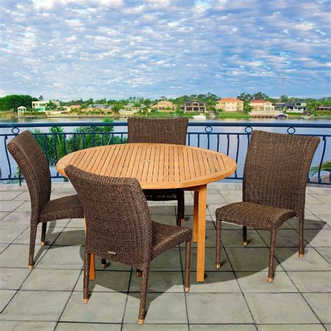 patio furniture river sc amazonia struch 5 teak patio dining set sc