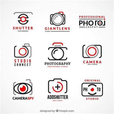 collection  photography logos vector