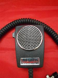 Astatic D104m6b Amplified Ceramic Power 5 Pin Mic Cobra 148  Uniden Grant