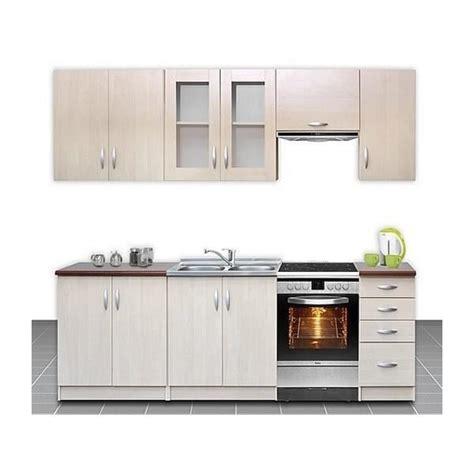 produit cuisine cuisine complète 260 cm ocelia bois clair moderne achat