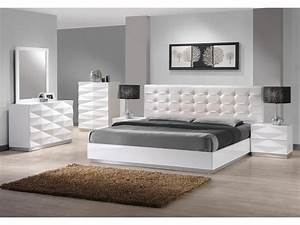 White, Leather, Bedroom, Furniture