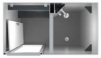 Shower Pod Changing Side Pods Entry Area