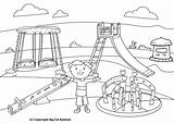 Park Coloring Slide Pages Swing Playing Clipart Children Playground Drawing Outline Drawings Kid Tasty Sketch Getdrawings Mangal Sakshi Fat Template sketch template