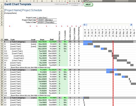 how to create a project budget free gantt chart template for excel