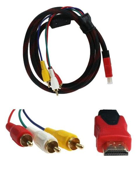 Harga Rca Cable kabel hdmi to 3 rca 1 5m harga rp75 000 info detail di
