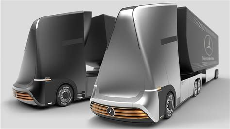 mercedes euro future truck concept youtube