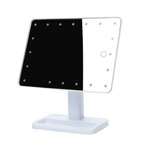 portable makeup mirror with lights portable 20 led lighted touch screen makeup cosmetic