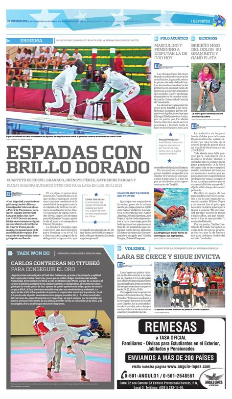 The latest tweets from @informador El informador 25 09 2013 by El Informador - Diario online Venezolano - Issuu