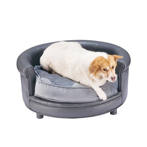 pet bed chesterfield faux leather large bed designer pet sofa