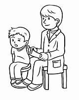 Flu Shot Kid Worksheet Getting Coloring Season Education Worksheets Kindergarten Colouring Aid Doctor Printable Shots sketch template
