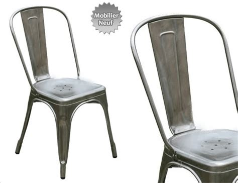 chaise métal industriel chaise