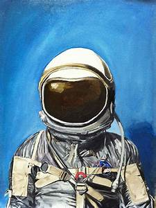 Astronaut Painting by Louie Valencia
