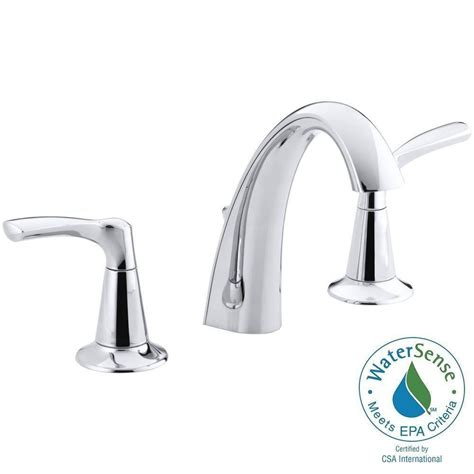kohler mistos   widespread  handle water saving bathroom faucet  polished chrome