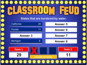 family feud powerpoint game template school stuff