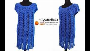 How To Crochet Blue Dress Tunic Tutorial Pattern By Marifu6a