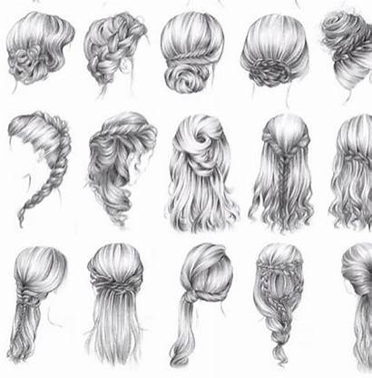 Drawing Drawings Pencil Braids Hairstyles Haare Pretty
