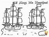 Coloring Pirate Ship Ships Pages Battle Sheet Pirates Seas Yescoloring Boys Boats sketch template