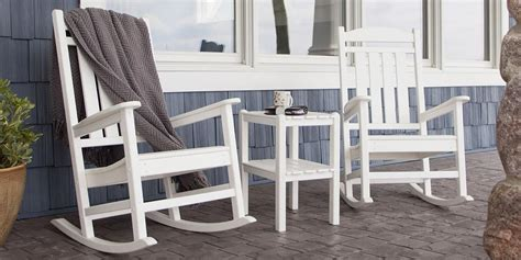 semco plastics green resin outdoor patio rocking chair