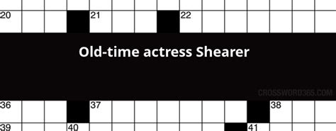 foto de Old time actress Shearer crossword clue