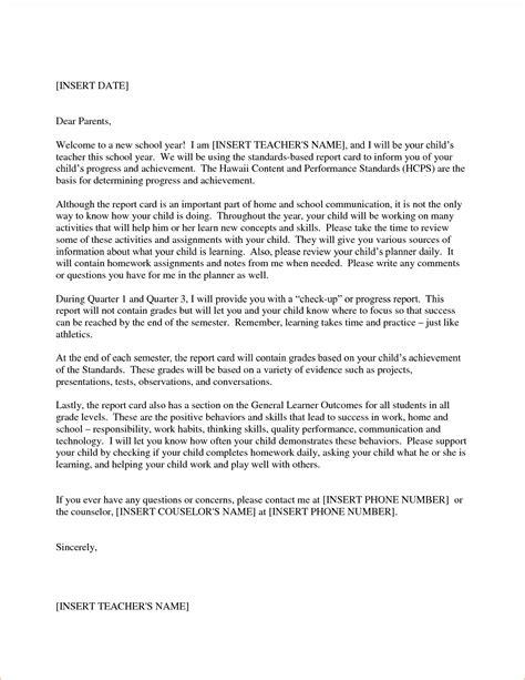 teacher  letter  parents template samples