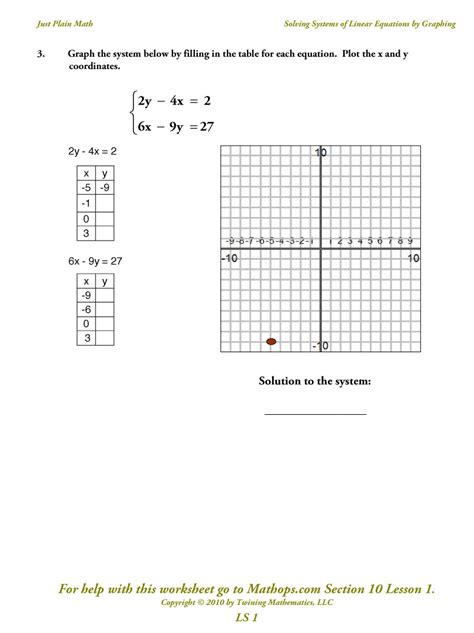 solving equations using tables worksheets graphing linear equations using a table worksheet