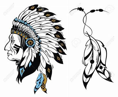 Feather Native Feathers Clipart Indian American Head