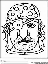 Coloring Eye Patch Eyepatch Pirate Designlooter sketch template
