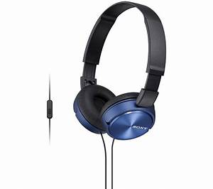 Buy SONY MDR-ZX310APL Headphones - Blue | Free Delivery ...