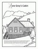 Coloring Cabin Log Grey Zane Clip Outline Adult Lake Adults Mobile Template Printable Sheets Popular Sketch sketch template