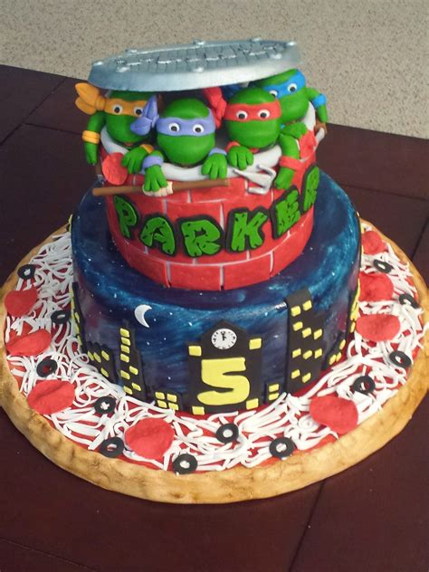js cakes teenage mutant ninja turtles birthday cake